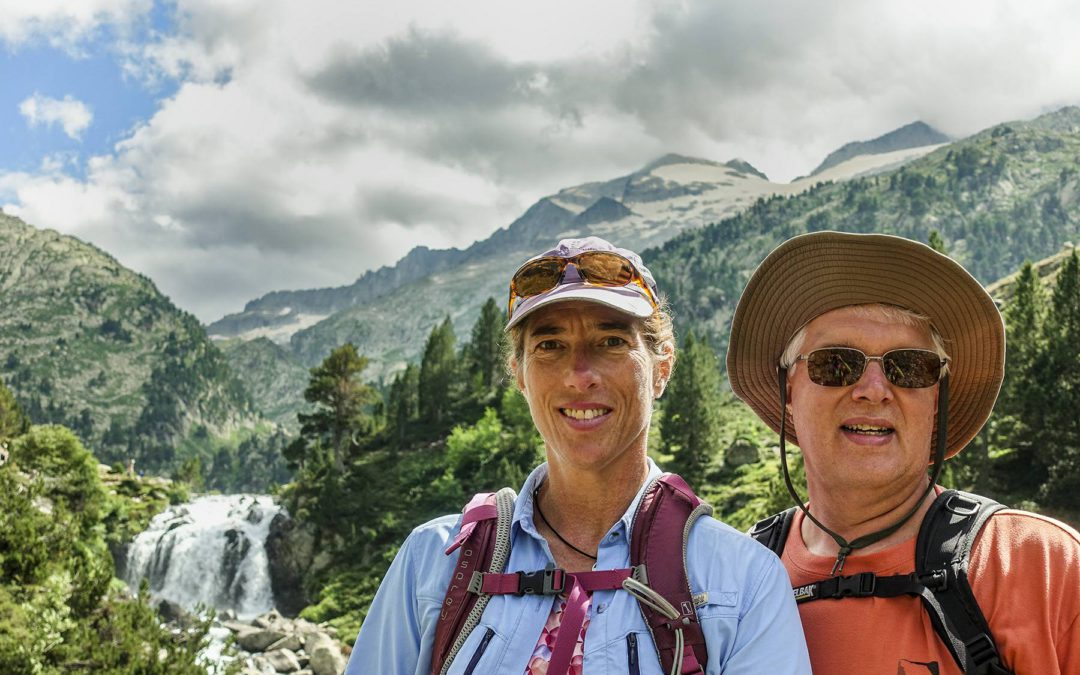 Laurel & Mark Pedri from Colorado Springs in the Pyrenees